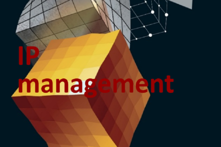 "Part of Scale-up Manual front cover image with the word ""IP management""."