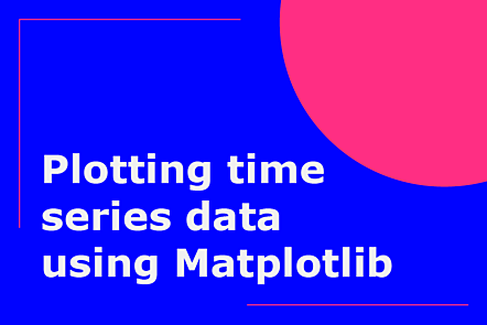 PFP01-Title card-Plotting time series data using Matplotlib