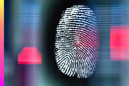 Fingerprint on a digital screen being scanned