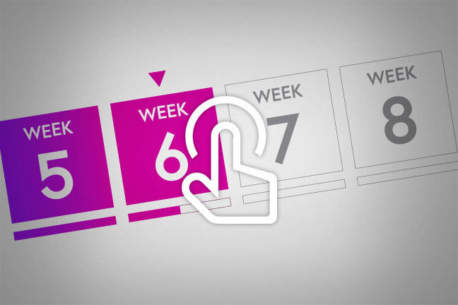 image of the FutureLearn weeks in the todo list