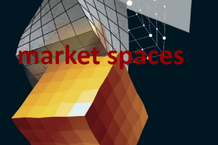 "Part of Scale-up Manual front cover image with the word ""market spaces""."