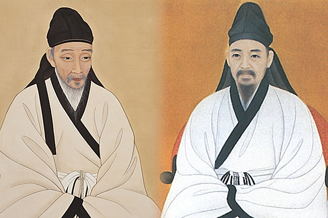 Portraits of Toegye and Yulgok respectively, two incredibly influential Korean philosophers.