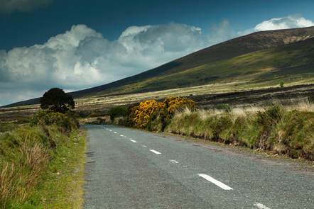 A road near the Knockmealtown Mountains, Co. Waterford
