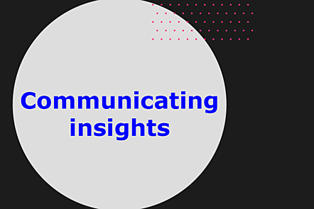Communicating insights