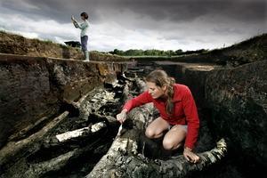 Nicky Milner on site at Star Carr (C) Guzelian Lorne Campbell