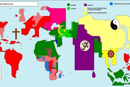 Religion across world regions
