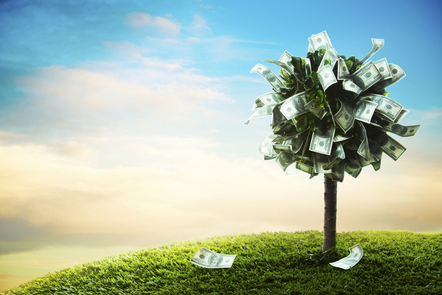 A tree made up of Dollars.
