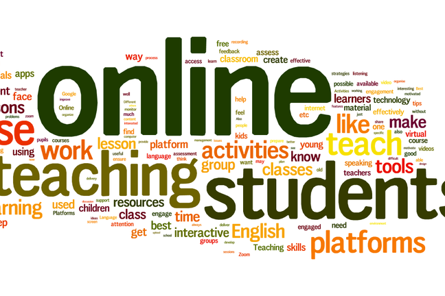 A word cloud of what our learners needed from this course - student, teacher, online were the top words