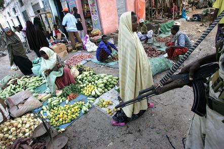 People shop October 6, 2007 in Mogadishu, Somalia.