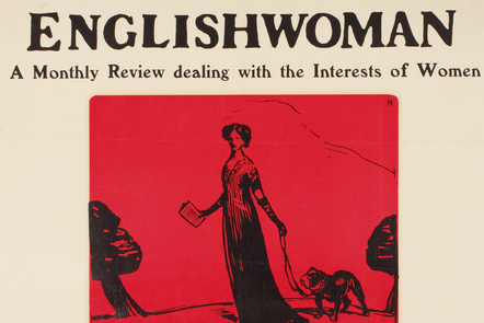 Promotional for The Englishwoman, a monthly review dealing with the interests of women