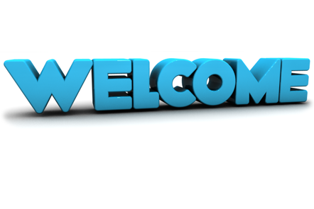 Welcome written in 3D