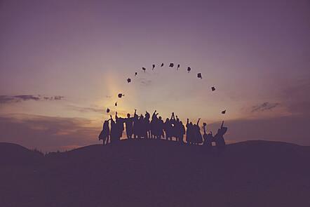 Graduates celebrating together