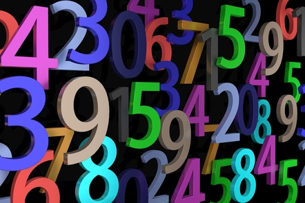 Lots of brightly coloured numbers