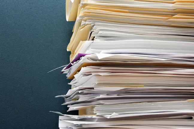 Pile of paperwork