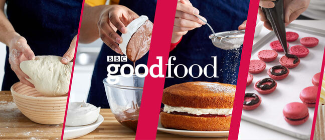 Images of food under the BBC Good food logo
