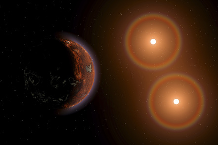 Depiction of exoplanets