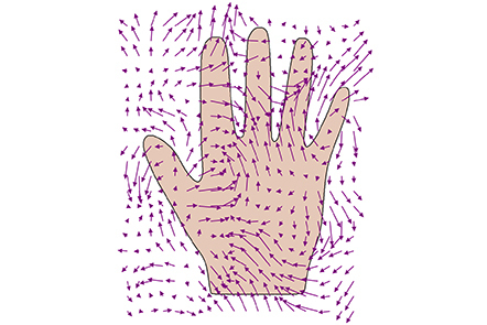 Shape of a hand with kernels without data