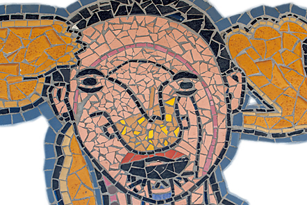 Body maps mosaic: face