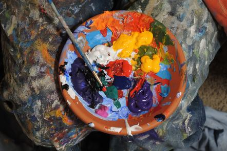 Artists palette splattered with pain.  Mike Petrucci, Unsplash