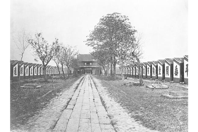 Chinese civil service examination halls Examination hall with 7500 cells, Guangdong, 1873.