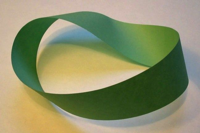 Green paper Möbius strip