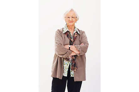 A photo of Shirley, a 68 year old grandmother with type 2 diabetes