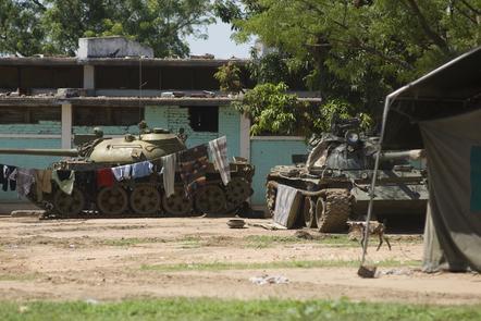 Tanks in Sudan.