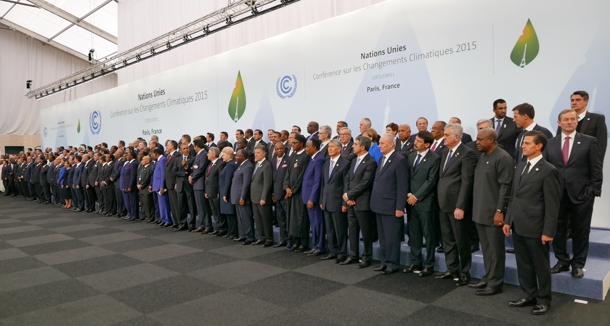 Heads of delegations at the 2015 United Nations Climate Change Conference in Paris.