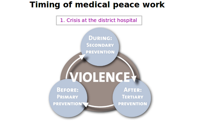 Model: Case 1 and timing of Medical Peace Work