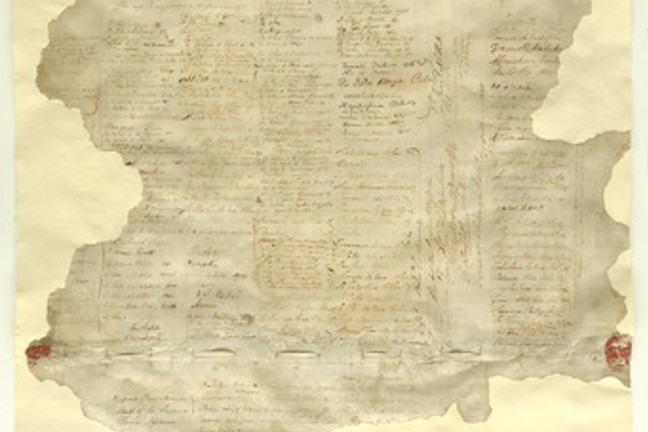 Te Tiriti o Waitangi, the original Waitangi sheet with signatures