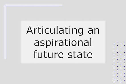 Articulating an aspirational future state