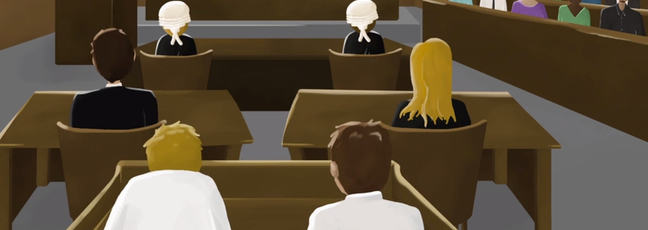 Our animated court scene