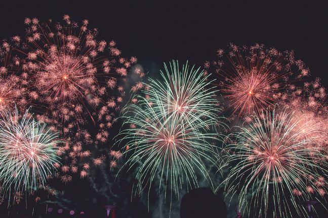 An image of colourful celebratory fireworks.