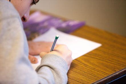 """Person using pencil"" image by Ben Mullins on Unsplash https://unsplash.com/photos/oXV3bzR7jxI"