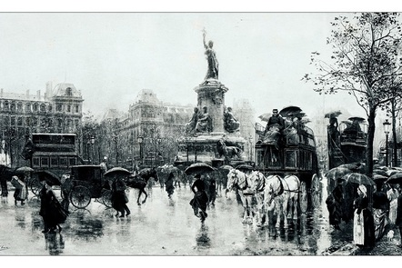 Paris' Place de la République in the 19th century