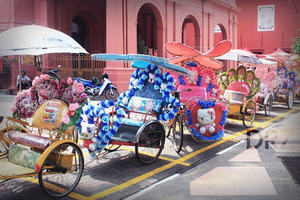 Beautiful trishaw found on the streets of Melaka