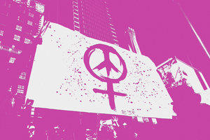Abstract image of gender and peace symbols