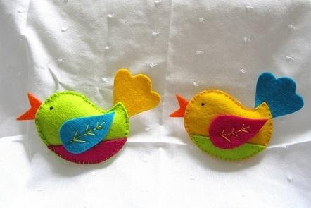 Felt bird toys