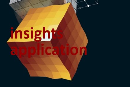 "Part of Scale-up Manual front cover image with the words ""insights application""."