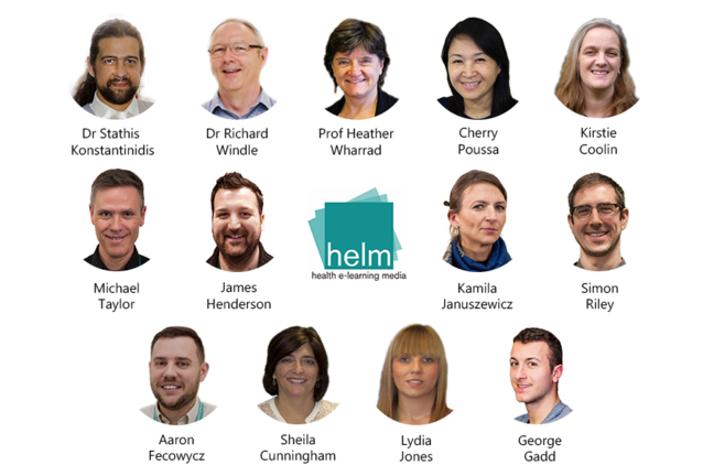 The Health E-Learning and Media (HELM) team