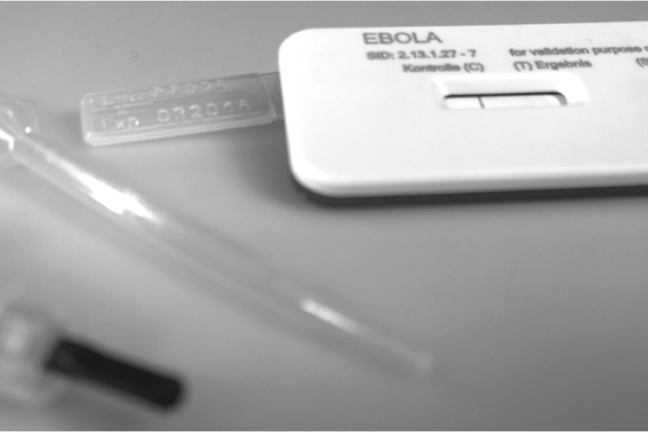 Senova's prototype rapid diagnostic for Ebola virus is being tested in Guinea.
