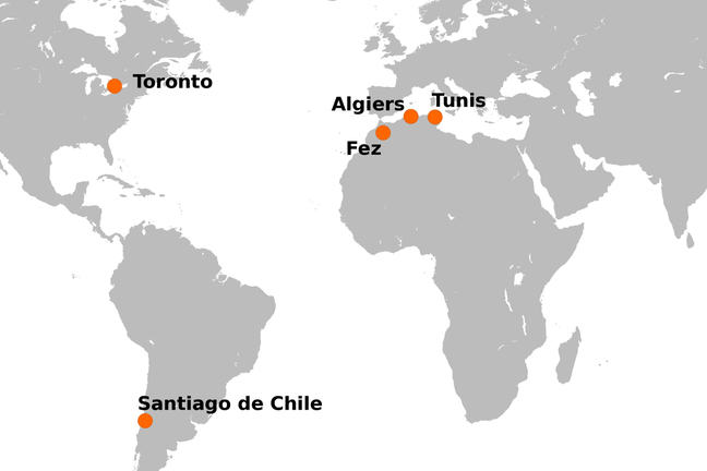 Locations of the case studies mentioned