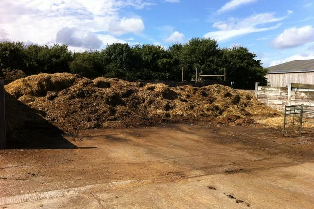 A photo of a large heap of manure