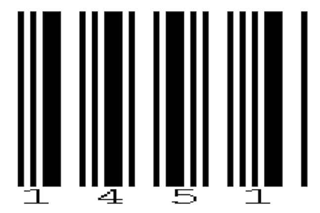 The Codabar barcode of 1451