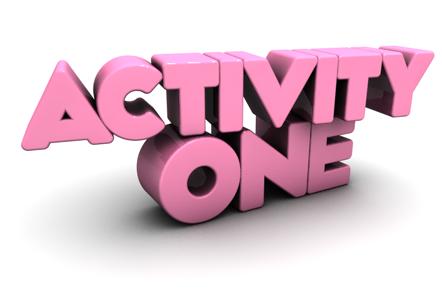 Activity One written in 3D