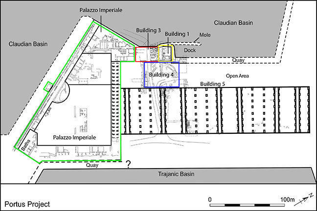 Plan showing the Imperial Palace area