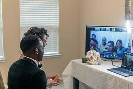 Wedding on zoom