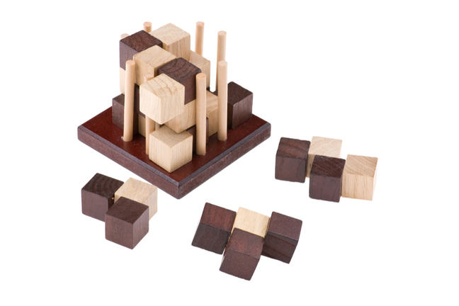 Collection of wooden puzzles