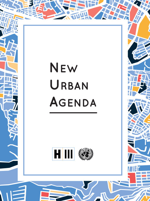 Front cover of the New Urban Agenda (NUA).