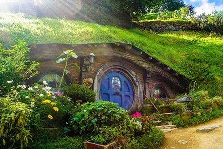 A hobbit-like house
